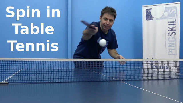 Spin in Table Tennis