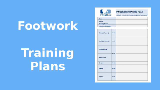 Weeks 5 to 8: Footwork Training Plans